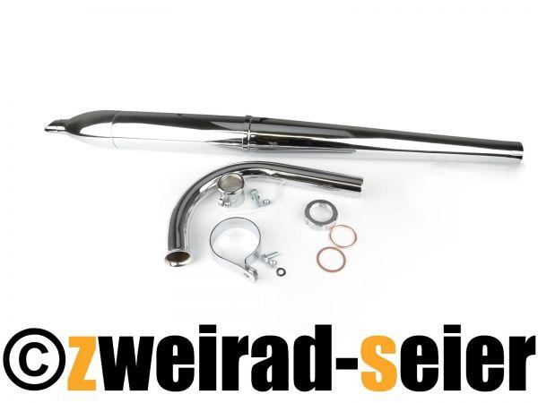 Auspuff SET - Topf zerlegbar - L=660mm, mit Krümmer 220 lg für Simson SR2E, SR2