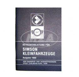 Betriebsanleitung für Simson Kleinfahrzeuge - Ausgabe 1969 mit 16 Bildern
