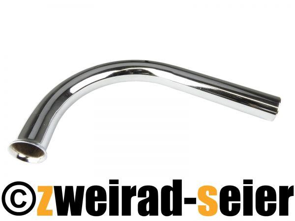Krümmer verchromt - 500 lang - gestreckte Länge ca. 610 - Schwalbe Spatz